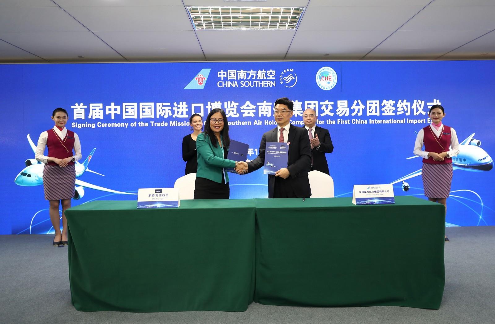 China Southern Airlines renouvelle sa confiance à STELIA Aerospace et choisit le fauteuil Classes Affaires SOLSTYS pour sa nouvelle flotte long-courrier B777-300 ER